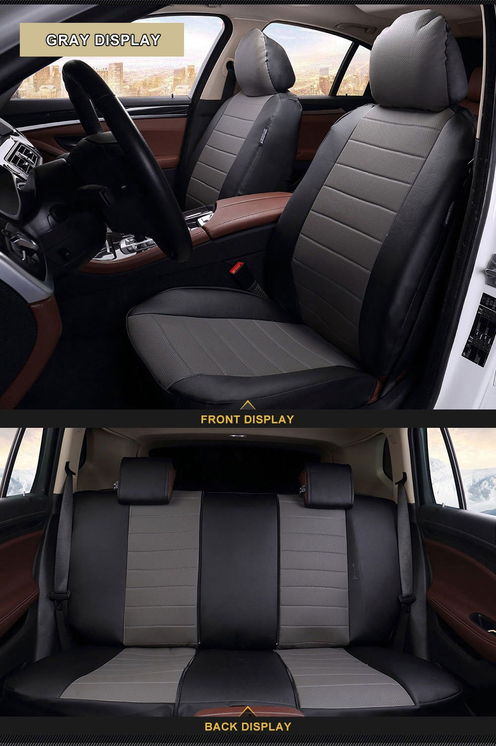 New Luxury PU Leather Auto Car Seat Covers Automotive For KIA RIO